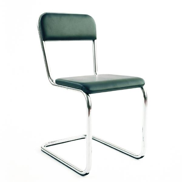 stol läder krom